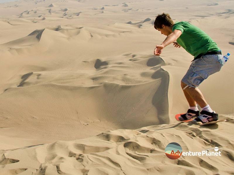 Sand Boarding in dubai desert